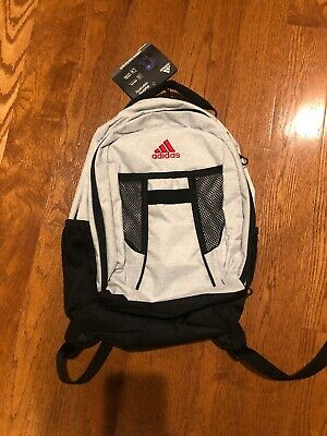 $38 • Buy ADIDAS WHITE Black Atkins MEDIUM Backpack LARGE CAPACITY LAPTOP SCHOOL MEDIA BAG
