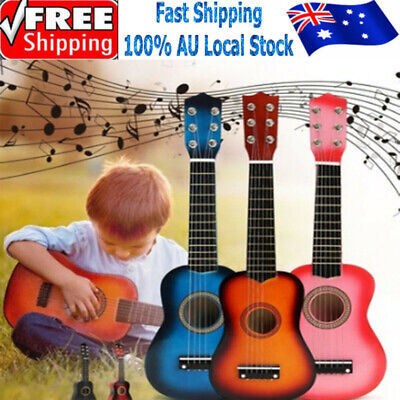 AU20.69 • Buy 21'' Kids Wood Acoustic Guitar 6 String Music Instruments Toys Children Gift