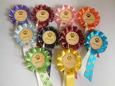 £10 • Buy SPECIAL MINI DOG ROSETTES IDEAL FOR TRAINER,S AWARD Or ANY DOG SHOW X 10 (2019)