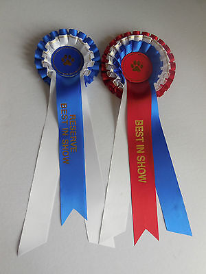 £6 • Buy Dog Show Best In Show & Reserve Rosettes