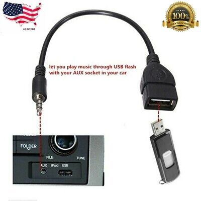 $3.34 • Buy Audio AUX Jack 3.5mm Male To USB 2.0 Type A Female OTG Converter Adapter Cable