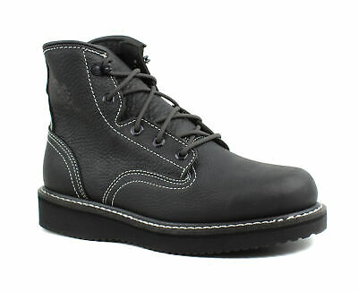 View Details Georgia Boots Mens GB00360 Wedge Lace Black Leather Work & Safety Boots • 57.33$