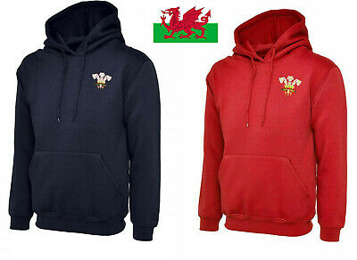 Wales Rugby Retro Style Hooded Sweat Shirt • 15£
