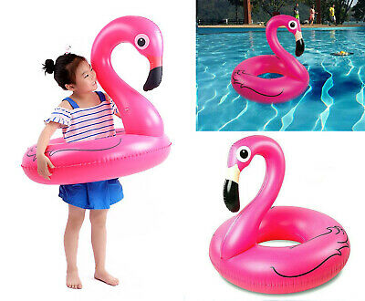 Pink Inflatable Giant Flamingo Shaped Pool Float Ring Raft Swimming Fun Toys • 6.59£