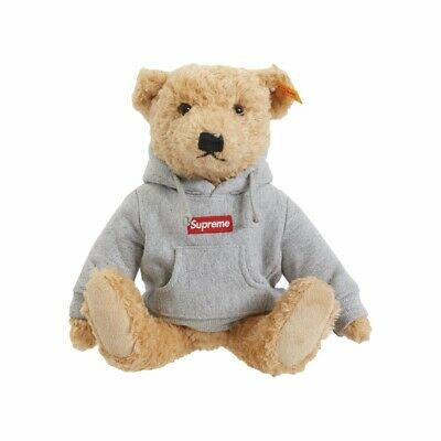 $255 • Buy Supreme Steiff Teddy Bear FW18 Heather Grey / UNOPENED BAG DS