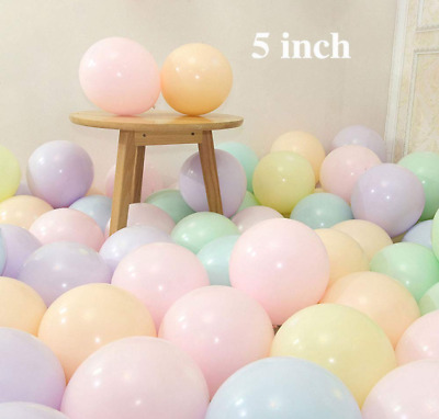 AU2.99 • Buy 10pc 5 Inch Latex Balloons Mini Pastel Macaron Colored Party Balloons