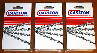 24  CARLTON Full Chisel Chainsaw Saw Chain 3/8-.050-81dl  (3-pack)  A1LM-081G(3) • 52.41£