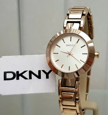 DKNY Ladies Designer Watch Rose Gold , Champagne Dial Genuine RRP £169 (566) • 39.99£