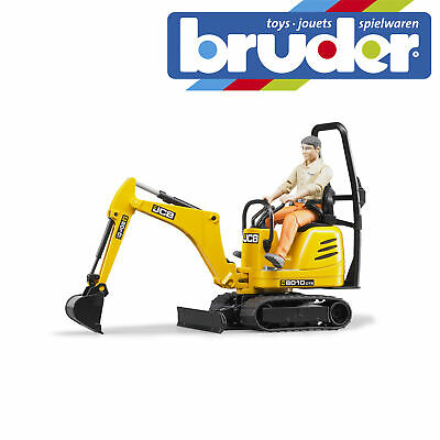 £22.99 • Buy Bruder JCB Micro Excavator 8010 CTS & Construction Worker Toy Model Scale 1:16