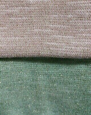 2 Colours- Cotton/viscose/lurex Knit Fabric-sold By The Meter • 2.99£