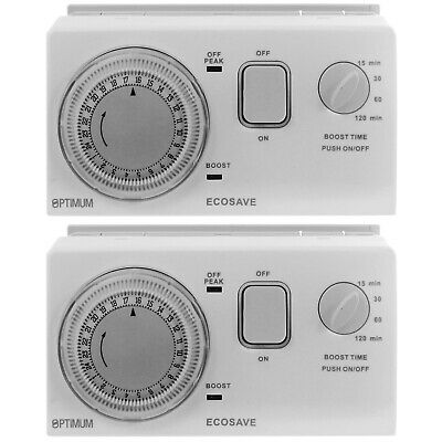 UNIVERSAL Economy 7 Timer Water Immersion Storage Heater Time Switch Boost X 2 • 118.29£