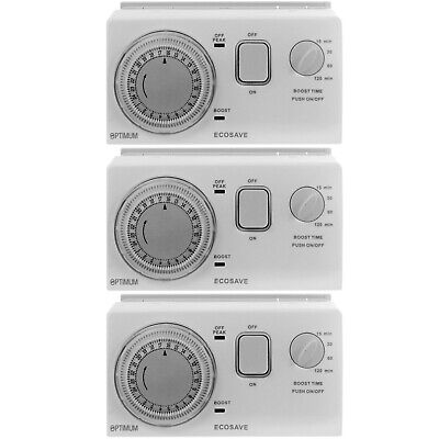 UNIVERSAL Economy 7 Timer Water Immersion Storage Heater Time Switch Boost X 3 • 176.29£