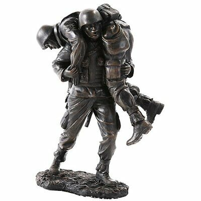 $38.99 • Buy Brave Soldier Rescue In Combat Military Army Veteran Figurine Statue Loyalty