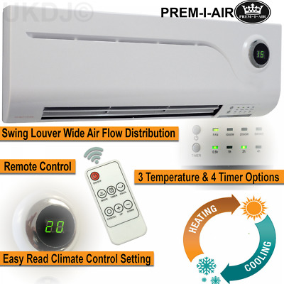 2kw Electric Over Door Warm Air Curtain Fan Heater LED Screen Remote Control PTC • 51.99£