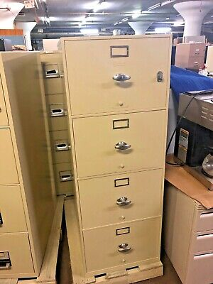 4Dr Legal Fire-Proof File Cabinet By Meilink-Hercules W/ Lock & Key In Putty • 598$