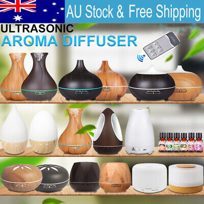 AU29.80 • Buy 160-550ML Aroma Aromatherapy Diffuser LED Oil Ultrasonic Air Humidifier Purifier