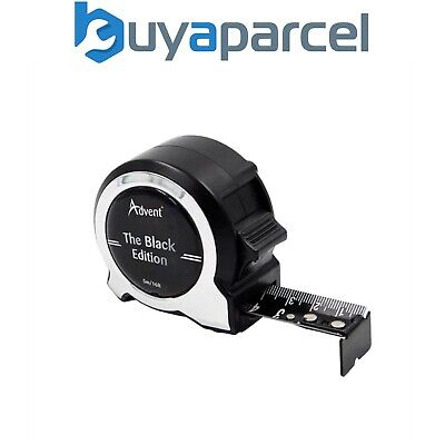 Advent Black Edition Tape Measure 5m 16ft Metric And Imperial ADVBE15025 • 11.96£