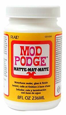 Mod Podge 8 Oz Matte Waterbase Sealer, Glue And Finish, Clear • 12.99£