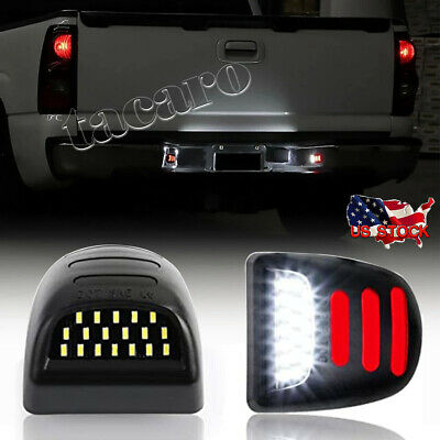 $16.98 • Buy 2X LED License Plate Light Red DRL Tube For Chevy Silverado GMC Sierra 1500 2500