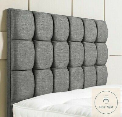 Chenille Fabric Bed Tall Headboard Cuba 24  30  36  Crushed Velvet Chenile • 38.95£