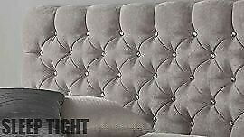 Chesterfield Headboard 24  Crushed Velvet Chenille KINGSIZE | DOUBLE | SUPERKING • 49.95£