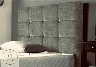 Chenille Fabric Tall Headboard Dozen Cubes 24  30  36  Double|Kingsize Headboard • 35.95£