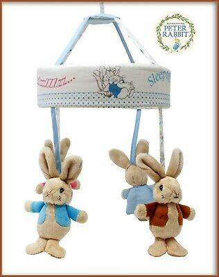 £32.75 • Buy Peter Rabbit & Flopsy Musical Cot Mobile Universal Fitting Super Baby Gift New