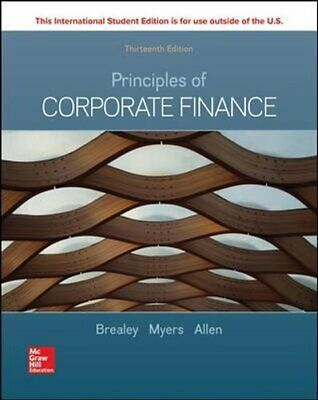 £54.21 • Buy ISE Principles Of Corporate Finance By Richard Brealey 9781260565553 | Brand New