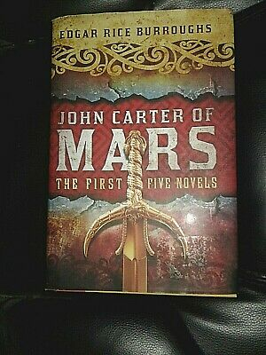 John Carter Of Mars-The First Five Novels-Edgar Rice Burroughs-Hardcover/dj • 12.95$