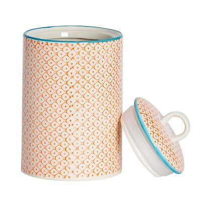 AU22.95 • Buy Kitchen Utensil Holder Pot Porcelain Kitchen Storage Orange Print X1