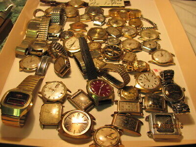 $ CDN999 • Buy 47 Mainly Complete Wrist Watches For Parts Or Repairs/lots Of Accutrons. Refine