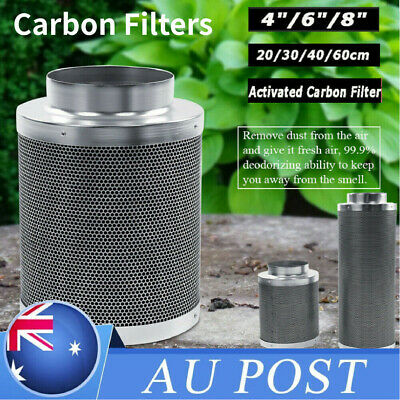 AU44.98 • Buy 4/6/8inch Hydroponics Activated Carbon Filter Charcoal Indoor Plant Odor Exhaust