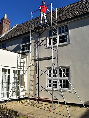 £319.99 • Buy DIY Scaffold Tower - Home Master Aluminium Towers - Quick Assembly - 4-7m Height