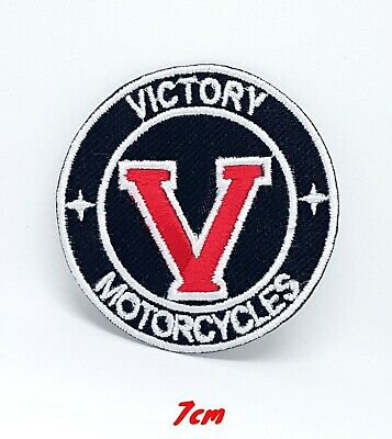 Victory V Motorcycle Iron Sew On Embroidered Patch #384 • 1.99£