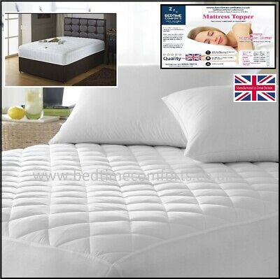 EURO IKEA KING SIZE BED (63  X 78 ) FITTED MATTRESS TOPPER (Boxed Skirt) • 14.99£