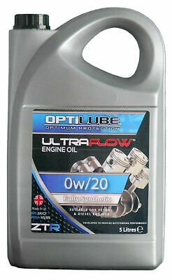 Engine Oil Fully Synthetic 0W20 Car Van Motor 5 Litre 5L • 18.65£
