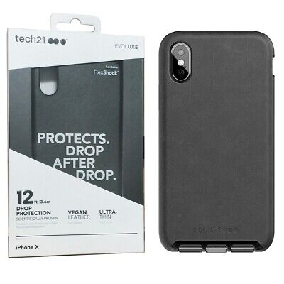 Evo Luxe Faux Leather Case Cover For IPhone X / XS FlexShock Protection Tech21 • 4.99£