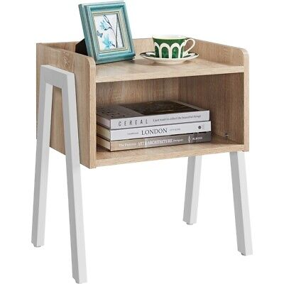 Bedside Table Industrial Nightstand Stackable End Table Retro Rustic Chic Table • 36.99£