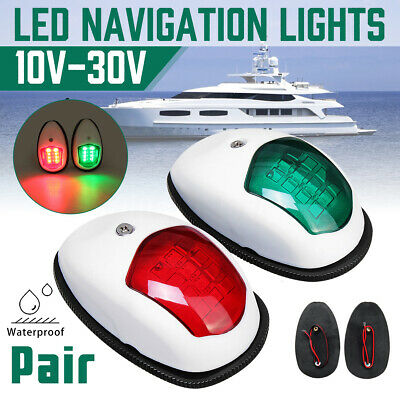 AU24.99 • Buy 2X Navigation LED Light Nav Lamp For Port Starboard Marine Yacht Boat Waterproof