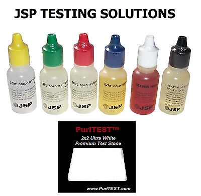 6 Gold Silver Testing Acid Jewelry Test Kit And Tester Stone Detect Check Metals • 13.87£