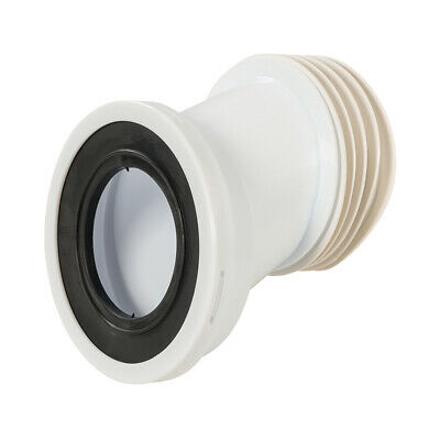 110mm Pan Connector 40mm Offset -Toilet WC Waste Pipe Connector- Push Fit Seal • 8.99£