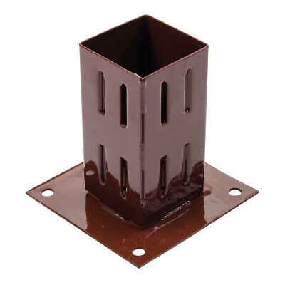 75 X 75mm Easy-Grip Fence Post Base Plate -Timber Wood Flat Ground Mount Bracket • 11.99£