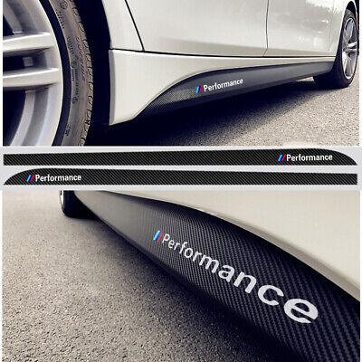 $19.99 • Buy M Performance Carbon Fiber Sticker Side Skirt Decal For BMW 3 5 X1 X3 X5 Series