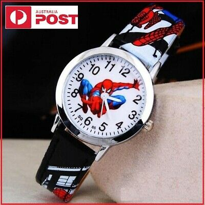 AU11.55 • Buy New Spiderman Kids Watch Christmas Gift Quartz Boys Black Cartoon Birthday Gifts