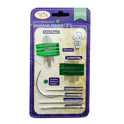 27pc Sewing Needles Repair Kit Upholstery Carpet Leather Curved Canvas UK SHOP • 1.99£