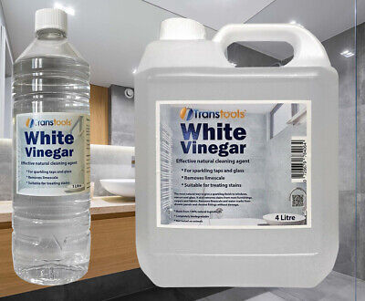 £10.95 • Buy White Vinegar Cleaning Mould Limescale Glass Cleaner Stain Remover Transtools