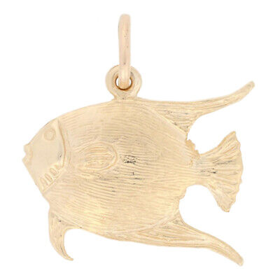 Bahamas Tropical Fish Charm - 14k Yellow Gold Travel Souvenir Pendant • 91.99$
