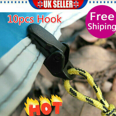 10x Tarp Clip Clamp Awning Set Car Boat Cover Tent Tie Down Emergency Snap • 3.57£