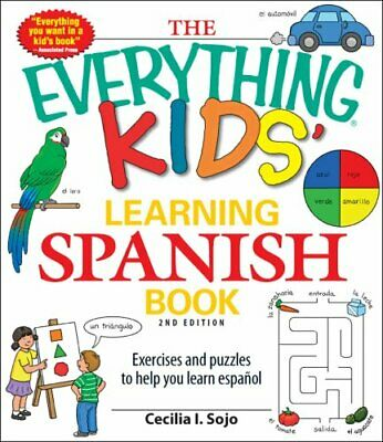 The Everything Kids' Learning Spanish Book Exercises And Puzzle... 9781440506765 • 6.46£