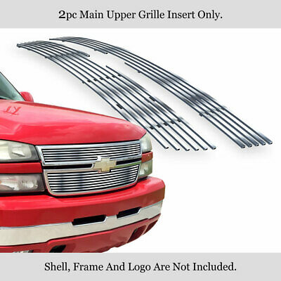 $76.99 • Buy Fits 2006-2007 Chevy Silverado 1500/05-06 2500HD Stainless Chrome Billet Grille